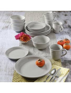 Mainstays Linen Rainforest 16 Piece Dinnerware Set by Mainstays