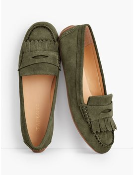 Everson Kiltie Penny Keeper Driving Moccasins   Suede by Talbots