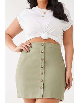Plus Size A Line Mini Skirt by Forever 21