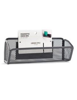 Magnetic Mesh Locker Bin Gray   Locker Style By U Brands by Locker Style By U Brands