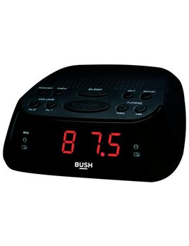 Bush Clock Radio   Black / Silver by Argos