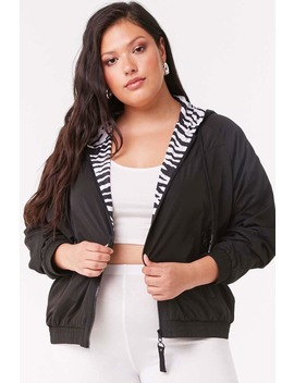 Plus Size Zip Up Jacket by Forever 21