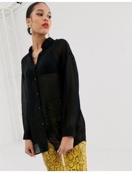 Bershka Shirt In Black by Bershka