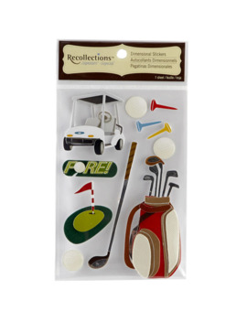 Recollections™ Signature Dimensional Stickers, Golf by Recollections
