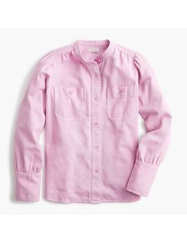 Draped Button Down Shirt In Twill by J.Crew