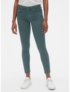 Soft Wear Mid Rise True Skinny Ankle Jeans In Color by Gap
