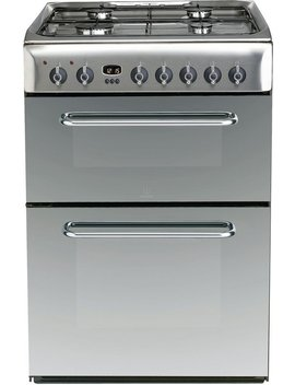 Indesit Kdp60 Se S 60cm Double Oven Dual Fuel Cooker   Silver by Argos
