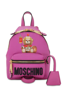 Mini Teddy Printed Pvc Backpack by Moschino