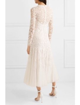 Bella Embellished Tulle Midi Dress by Needle & Thread
