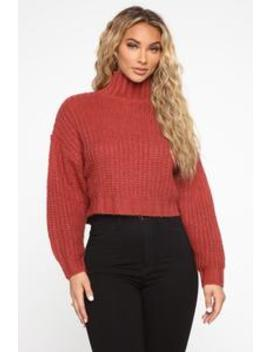 When I Get Home Turtle Neck Sweater   Rose by Fashion Nova
