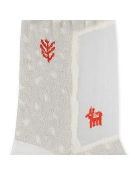 200 Yanrs Square Gabbeh See Through Socks Ecru by Kapital