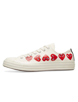Comme Des Garcons X Converse Chuck Taylor All Star 70s Ox Multi Heart White | 162975 C by The Sole Supplier