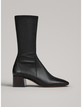 Stretch Heel Ankle Boots by Massimo Dutti