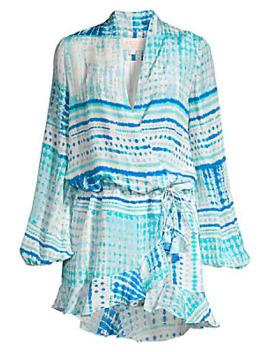 Celine Tie Dye Wrap Dress by Rococo Sand