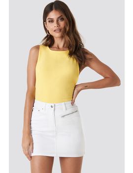 Denim Mini Skirt Blanc by Paulinyexnakd