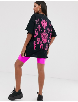 Hnr Ldn Tattoo Back Print Graphic T Shirt In Oversized Fit by T Shirt