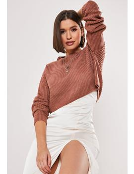 Tall Rose Super Crop Knitted Sweater by Missguided