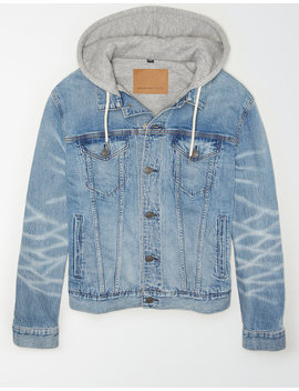 Ae Hooded Denim Jacket by American Eagle Outfitters