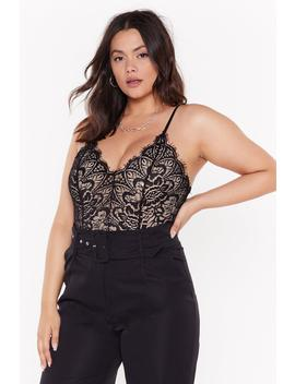 Lace Spend The Night Together Plus Bodysuit by Nasty Gal