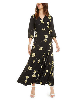 Ruffle Wrap Maxi Dress, Created For Macy's by General