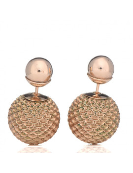 Christian Dior Mise En Dior Tribal Earrings Rose Gold by Christian Dior