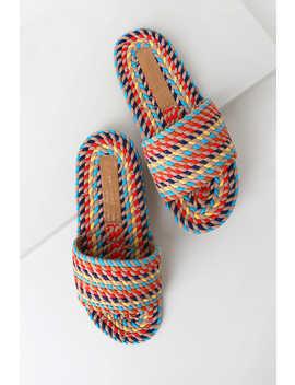 Sunny Rainbow Multi Rope Slide Sandals by Salt+Umber