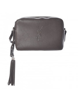Saint Laurent Lambskin Small Lou Camera Bag Asphalt by Yves Saint Laurent