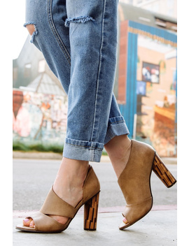 Open Side Pump With Wood Heel by Say More Boutique, New York