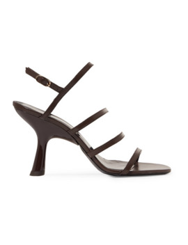 Strappy Tee Leather Slingback Sandals by Simon Miller