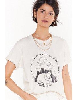 Bear Slogan Tshirt by Nasty Gal