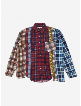 Rebuild 7 Cuts Flannel Shirt Size Medium 2   Assorted by Needles