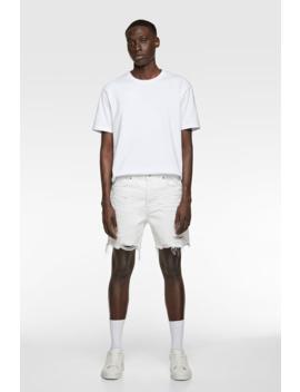 Ripped Denim Shorts View All Shorts Man by Zara