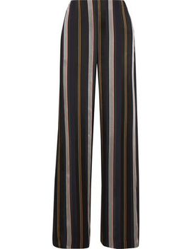 Arneau Striped Satin Wide Leg Pants by Roksanda