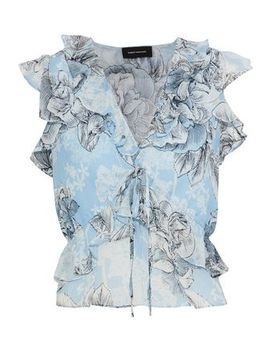 Floral Print Cotton And Silk Blend Georgette Blouse by Robert Rodriguez