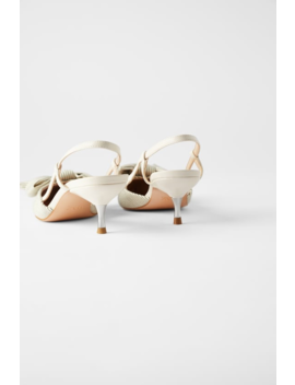 Striped Kitten  Heel Shoes With Bow View All Woman by Zara