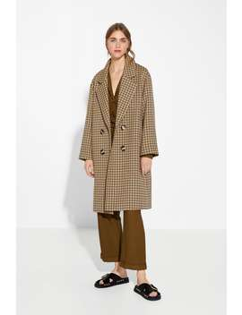 Buttoned Check Coat Outerwearwoman by Zara