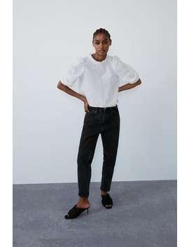 Voluminous Textured Top Shirtstrf by Zara