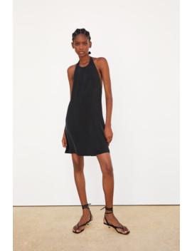 Flowy Halter Dress Mini Dresses Woman by Zara
