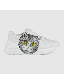 Women's Rhyton Sneaker With Mystic Cat by Gucci