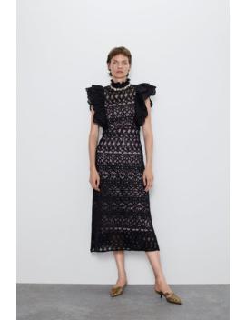 Textured Ruffle Dress New Inwoman by Zara