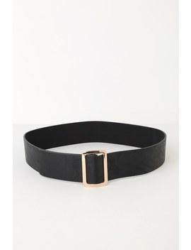 Chic Effect Black Belt by Lulus