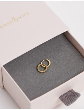 Astrid & Miyu Gold Plated Mystic Huggie Hoop Earrings by Astrid & Miyu