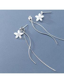 A'roch   925 Sterling Silver Flower Fringed Earring by A'roch