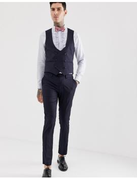 Devils Advocate Skinny Fit Tuxedo Suit Pants by Suit Pants