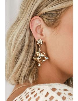 Kaylin Gold Statement Earrings by Lulus