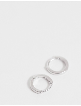 Astrid & Miyu Sterling Silver Huggie Hoop Earrings by Astrid & Miyu