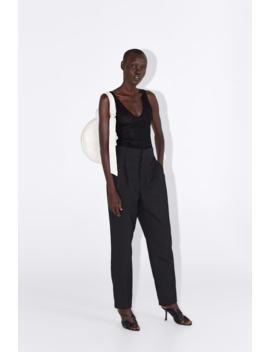 Semi Sheer Bodysuitbodysuit Woman by Zara