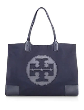 Ella Vegan Leather Trimmed Tote by Tory Burch