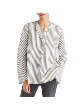 Nwot Striped Flare Sleeve Shirt by Madewell