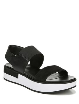 Carys Leather And Fabric Sporty Wedge Sandals by Naturalizer